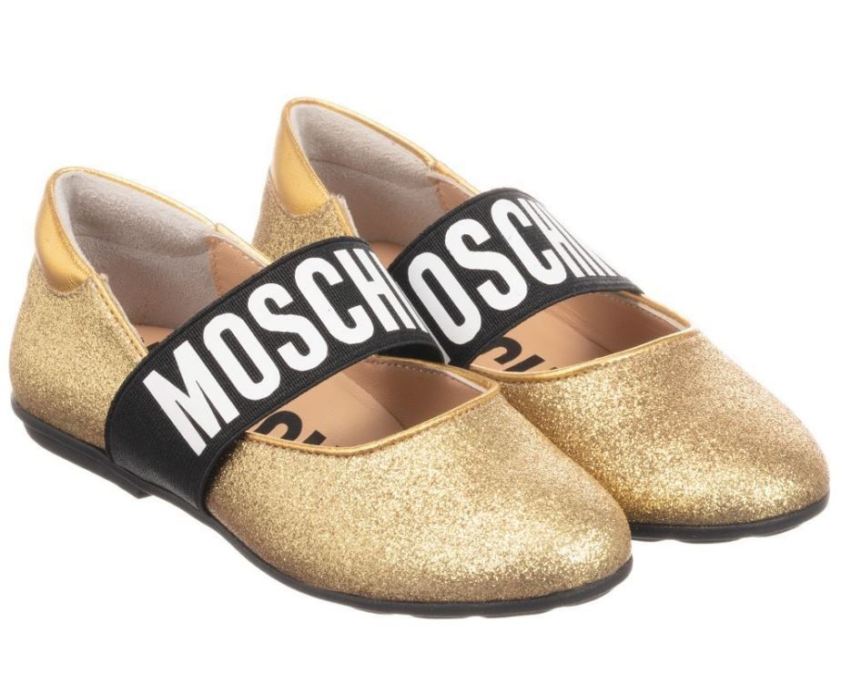 26284 / 0Q05 GOLD / MOSCHINO GLITTER SHOES