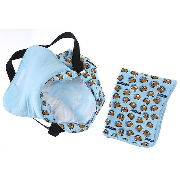 MOX036 / 84912 BLUE / MOSCHINO Diaper BAG W/MAT