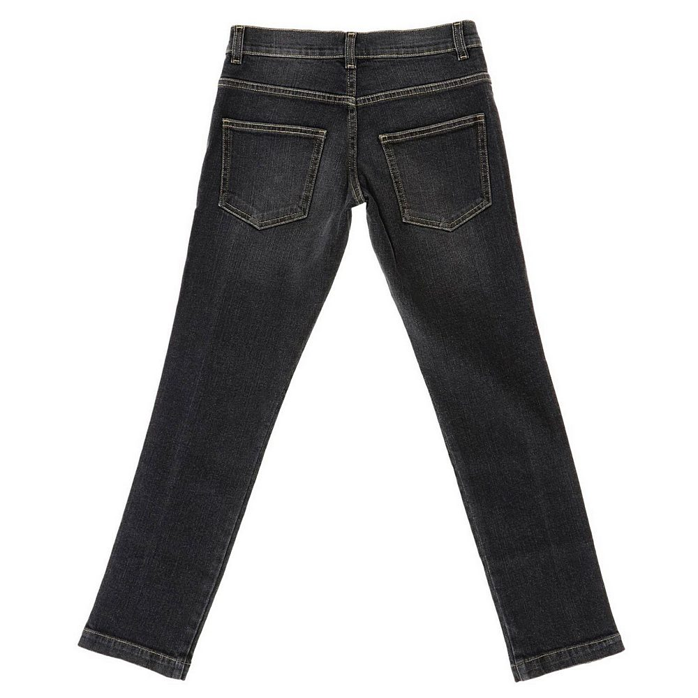 JMF213 / F0QA1 BLACK / FENDI DENIM PANTS W/LOGO