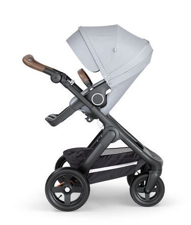 521505 / GREY MELANGE / Trailz-Blk Chassis/Brown Handle - Grey Melange