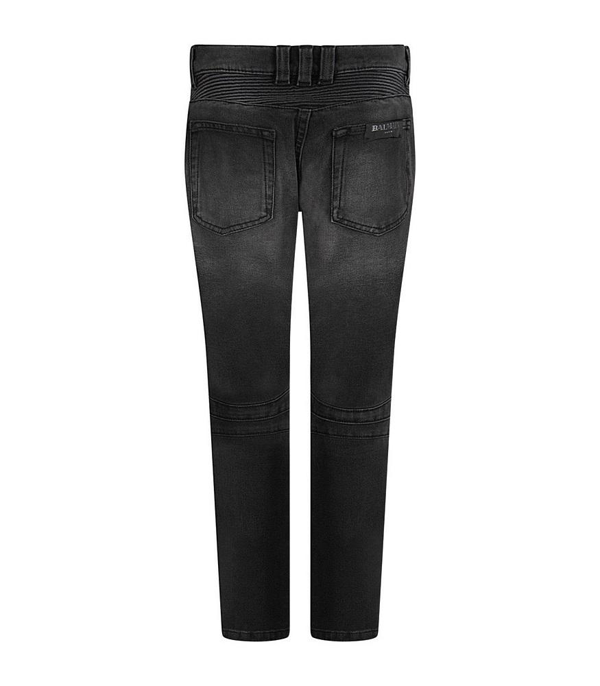 6L6550 / WASHED BLACK / Balmain Biker Jeans