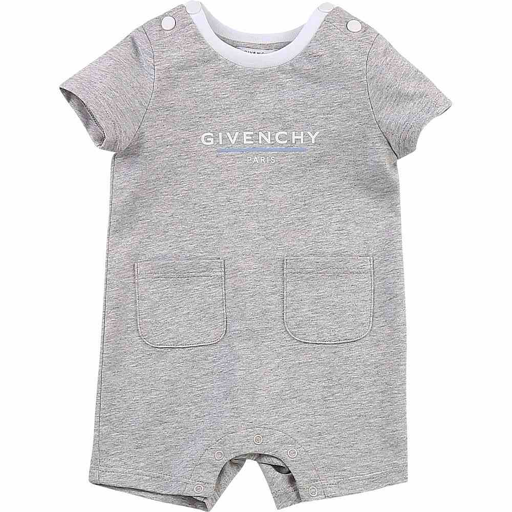 H94055 / A01 GREY / Ss Short Overalls,2 Front Pockets