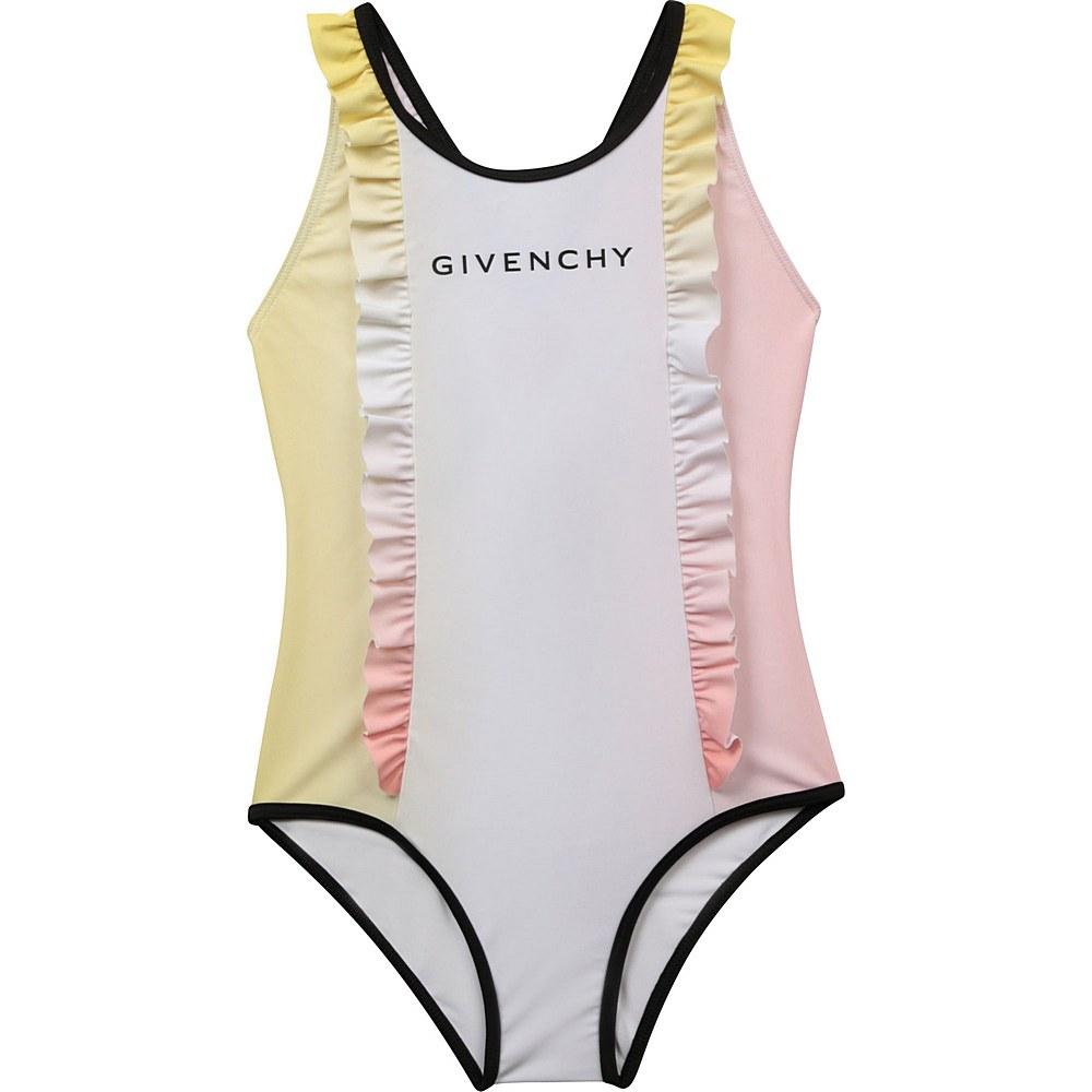H10037 / Z40 PINK / 1pc Swimsuit Dye Effect,Flounces,Front