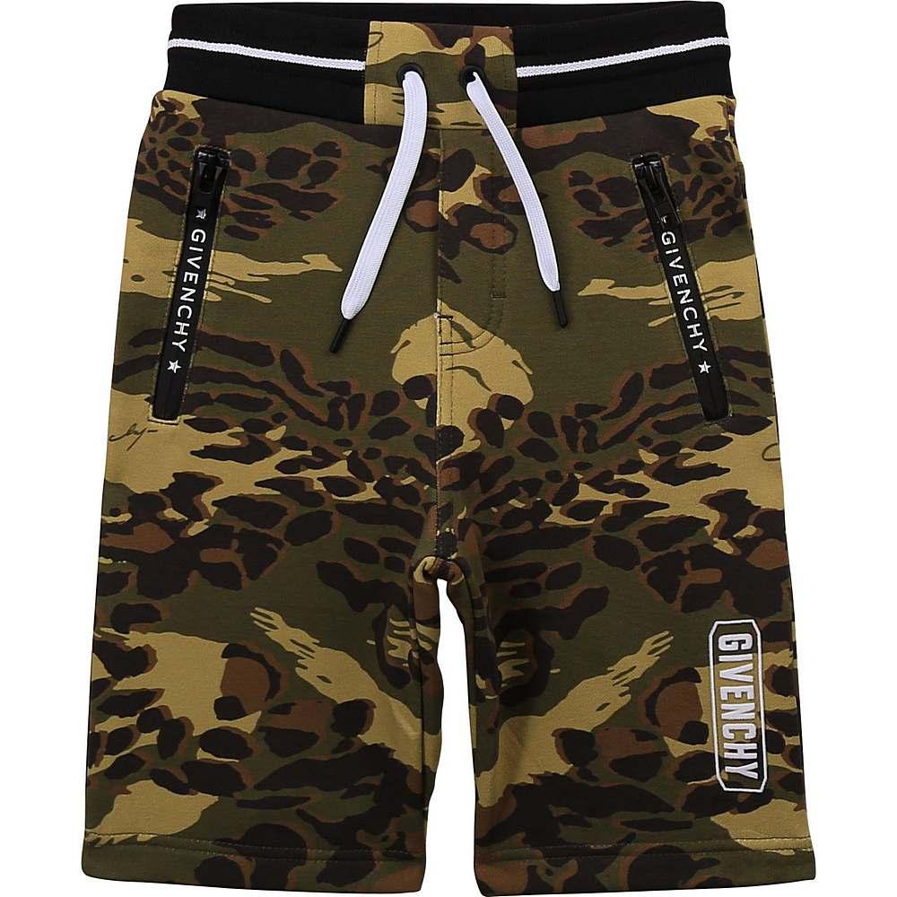 H24123 / 64H CAMO / Boy Camo Print Shorts, Printes Logo Back Waist