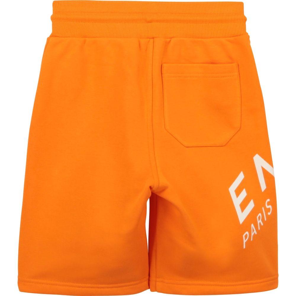 H24119 / 41E ORANGE / Boy 3pockets Short,Printed Logo on Leg