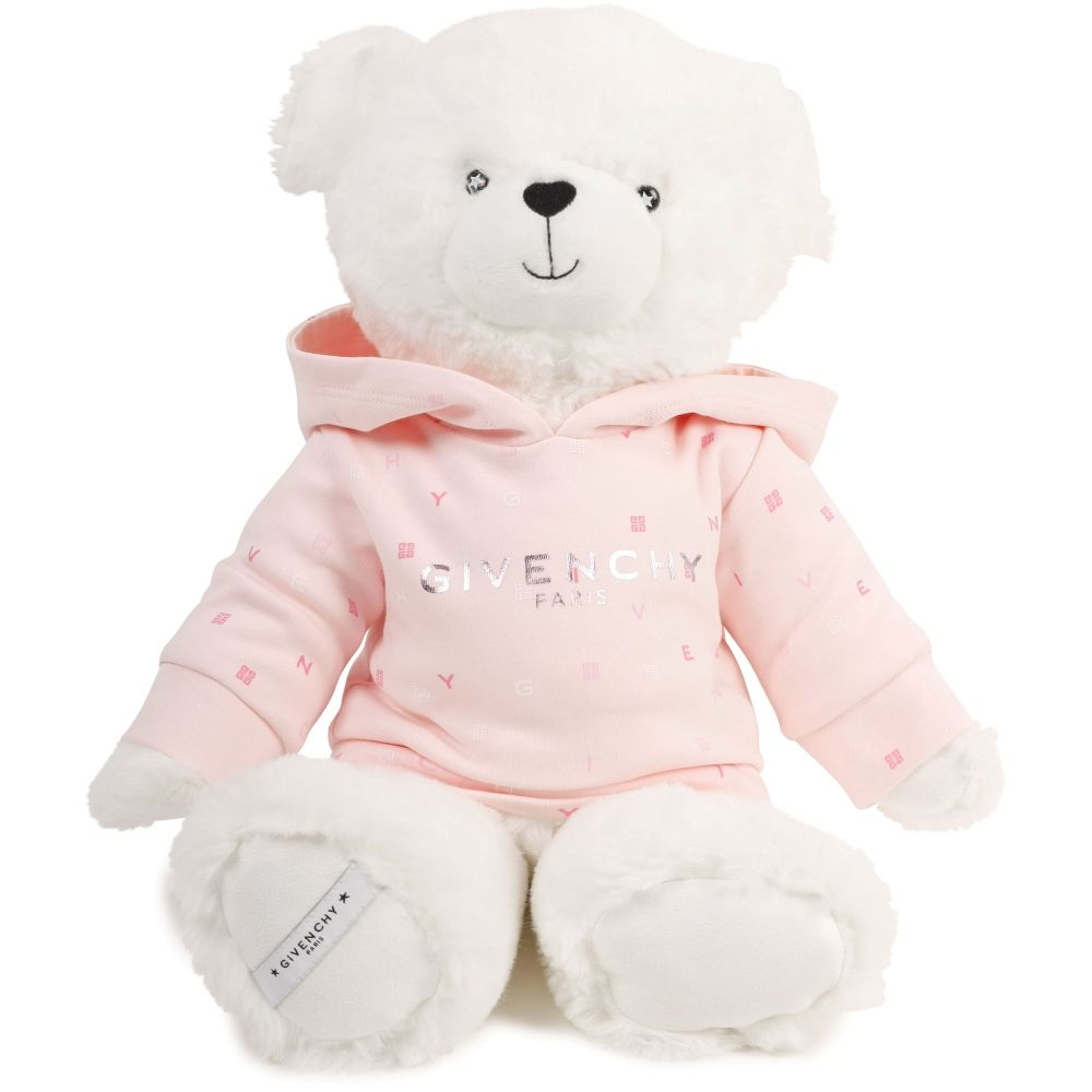 H9K036. / 45S PINK / Teddy W/Hooded Printed Cotton Sweat