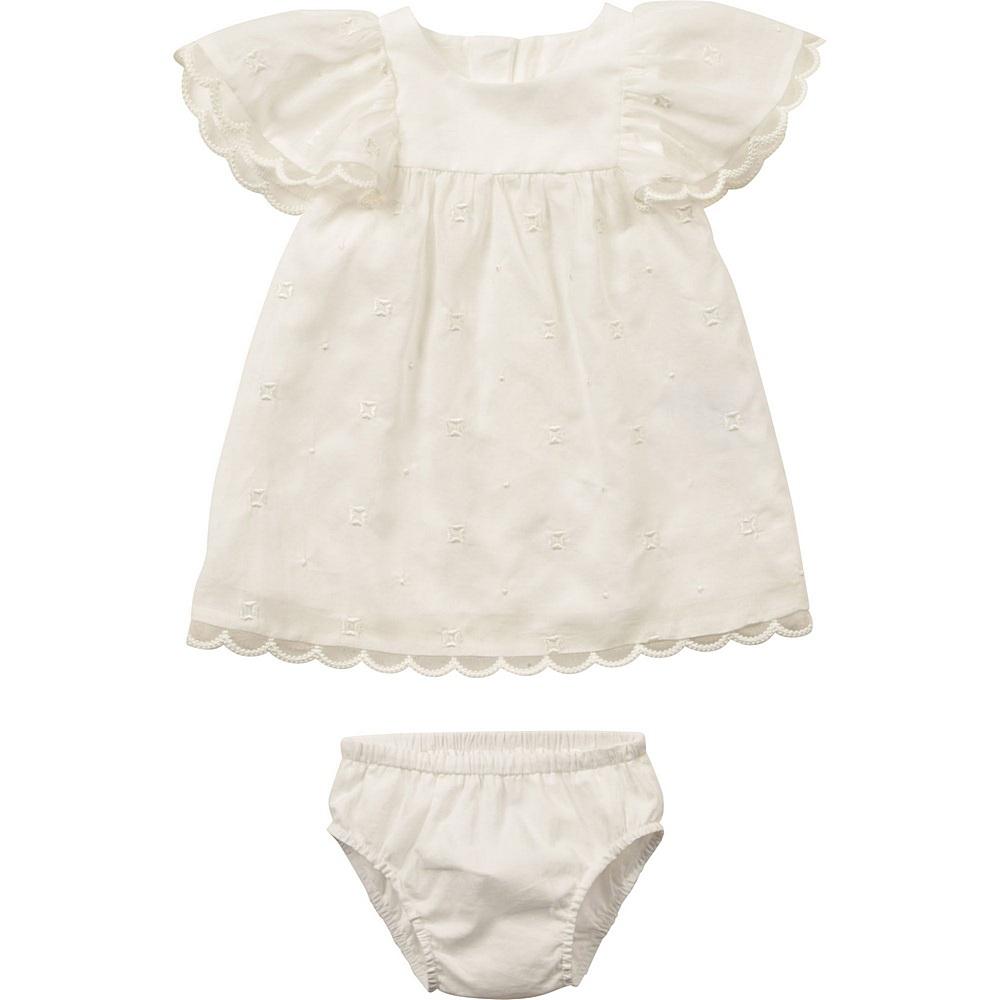 C92488 / 117 WHITE / Ss Dress Flower Embroidery W/Bottom