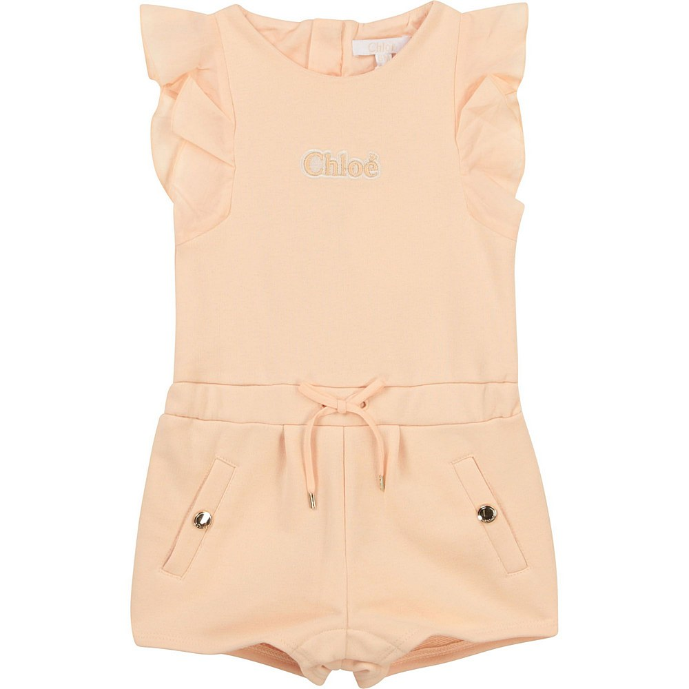 C04181 / 45F PINK / Short Overall Logo Embroidered