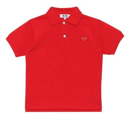 AZ-T505 / RED / COMME Des GARCON PLAY POLO Shirt W/Red Heart