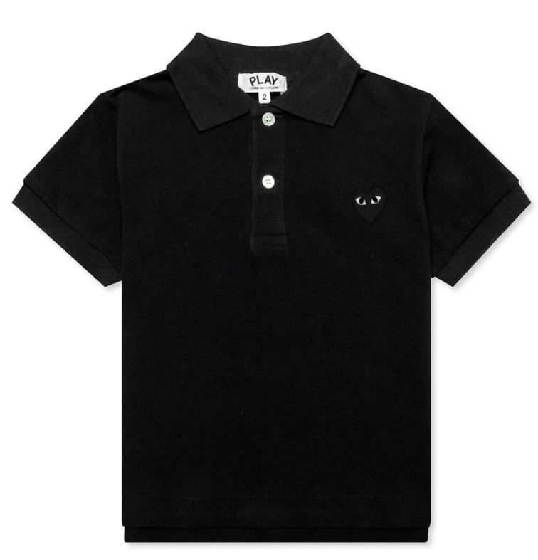 AZ-T565 / BLACK-1 / COMME Des GARCON Polo Shirt WITH BLACK Heart