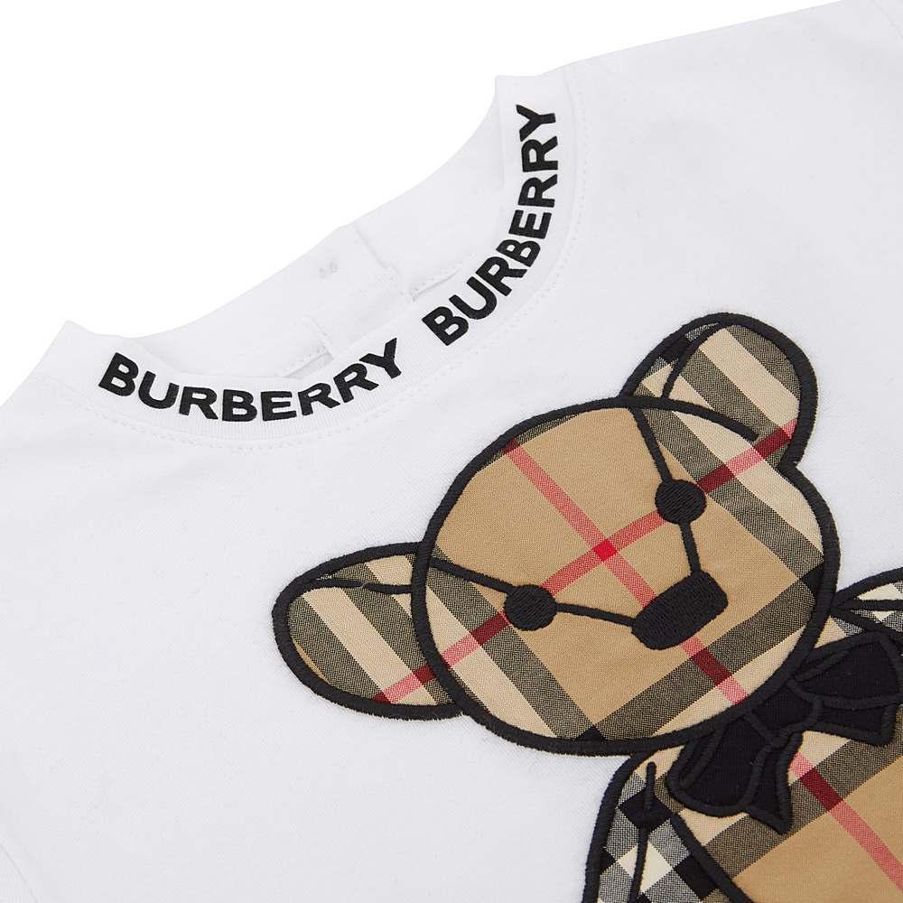 8032682 / WHITE / BURBERRY DANNY CHECK T-SHIRT