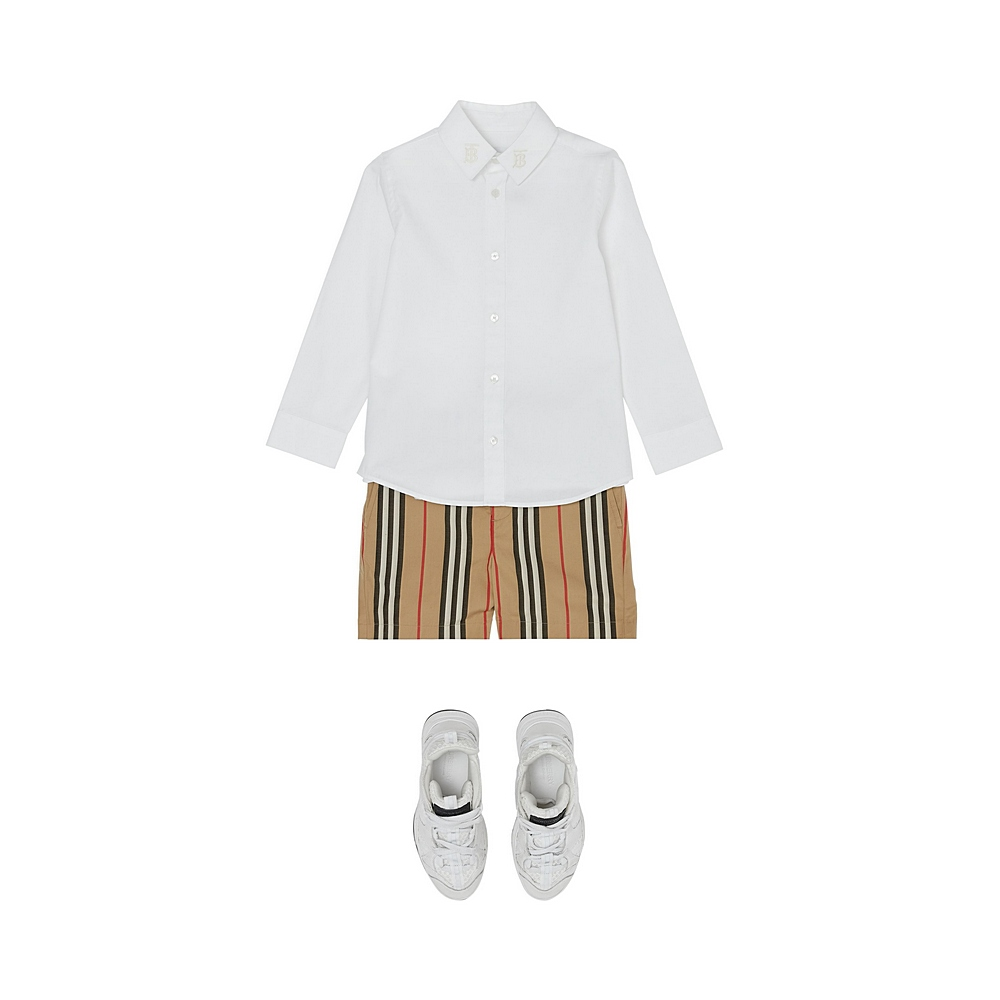 8032839 / WHITE / BURBERRY NYLES DRESS SHIRT
