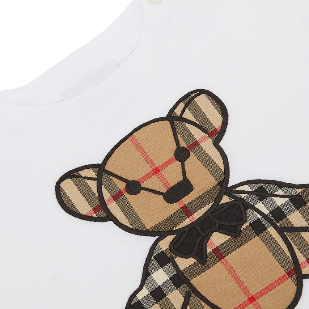 8032750 / WHITE / BURBERRY BEAR ONESIE