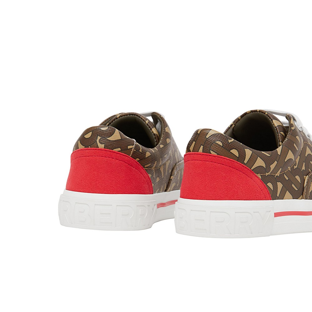8030833 / BRIDLE BROWN / BURBERRY MINI SKATE TRAINERS