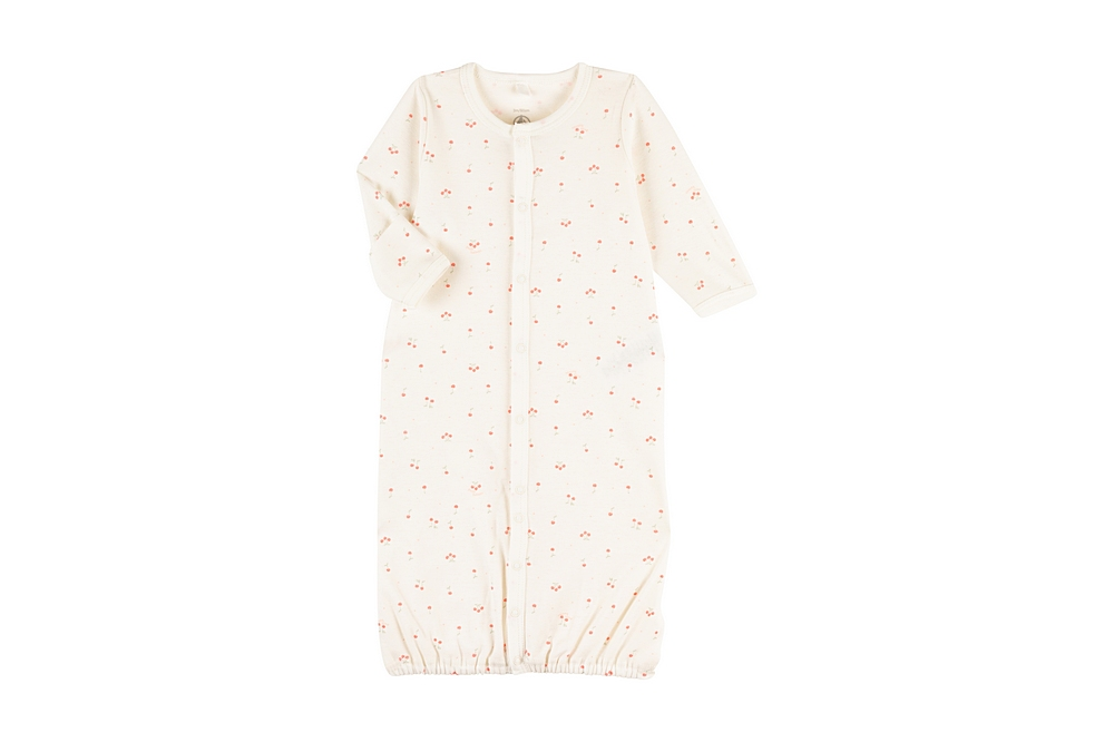 A00M0 MONIE. / 01 WHITE PINK / Baby Printed Gown