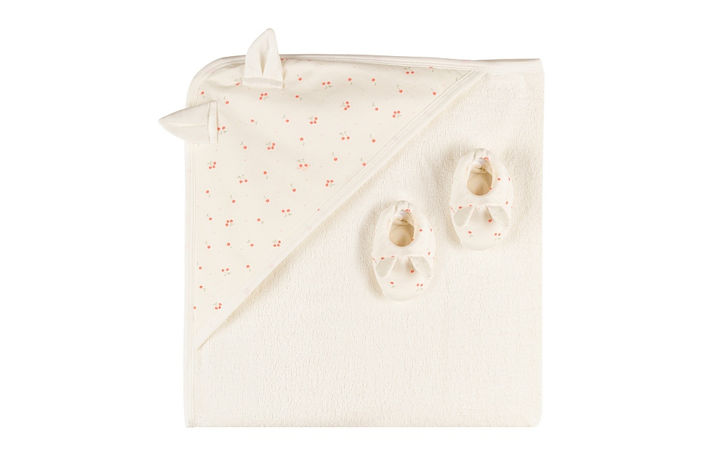 58991 MOLLY. / 01 WHITE PINK / Towel With Booties