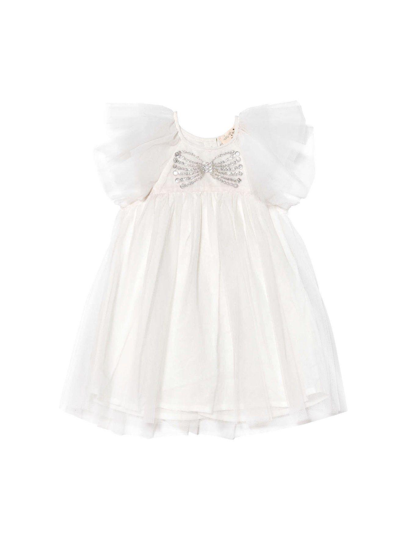 TDM5961 / WHITE / COSETTE TULLE DRESS 'BEBE'