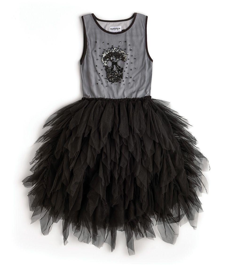 NT3746A / BLACK / Holiday Shade of Skull Dress