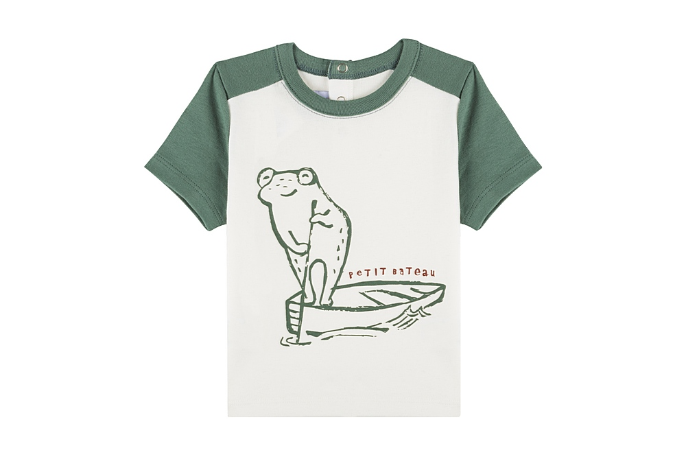 A0092 MEHDI / 01 WHITE GREEN / Baby Boy Ss Tee With Graphic