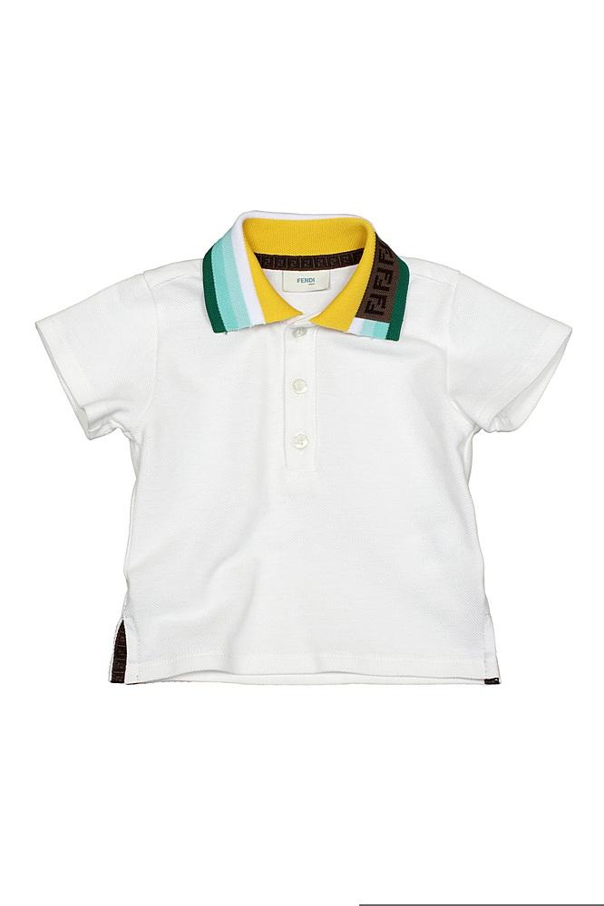 BUI017 AVP / F1DEN WHITE / Polo Tee W Logo Sripes on A Collar