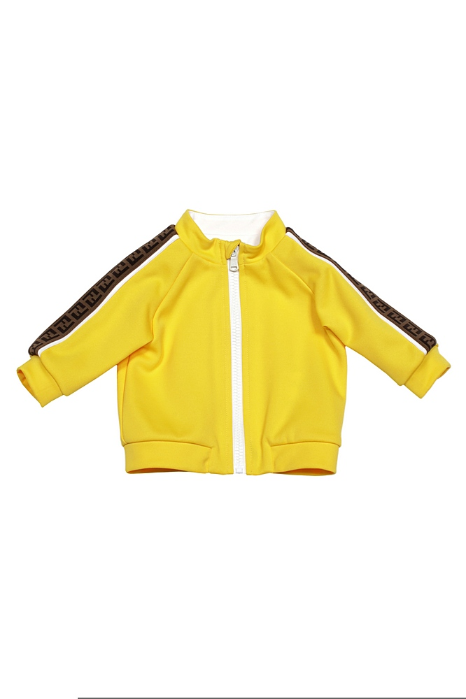 BUH023 A69D. / F1BW2 MUSTARD / Track Jacket With Logo Down Sleeve