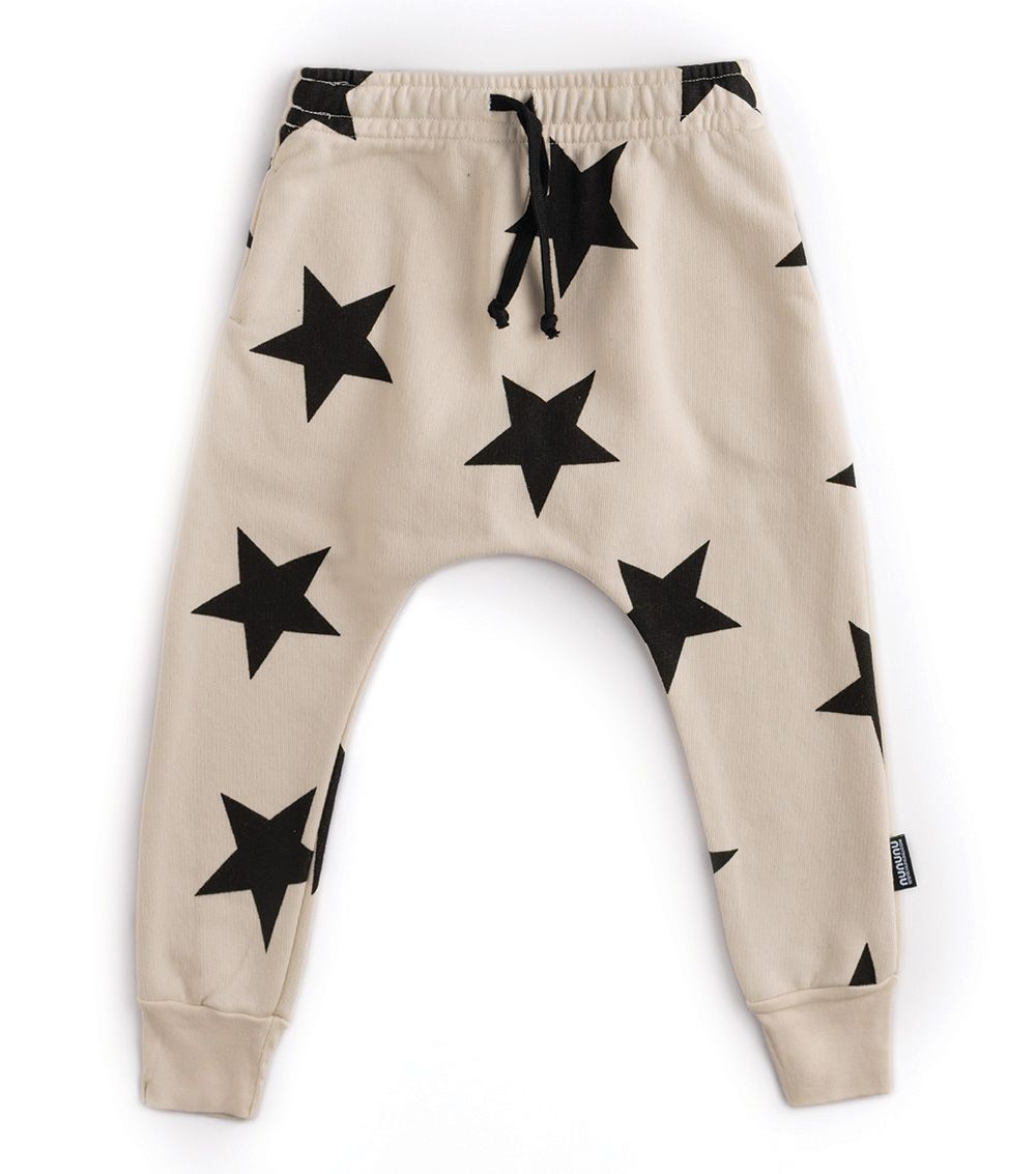 NU2345A / NATURAL / Star Baggy Pants