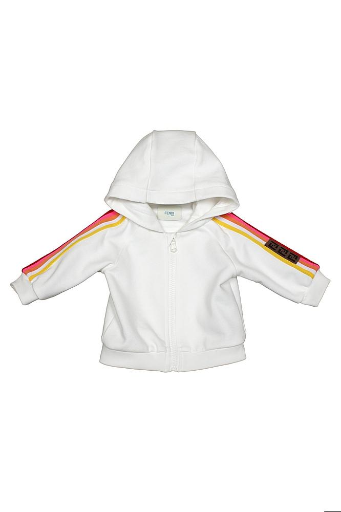BUH027 5V0 / F1DEQ WHITE / Hooded Sweatsh W Stripes on A Slv
