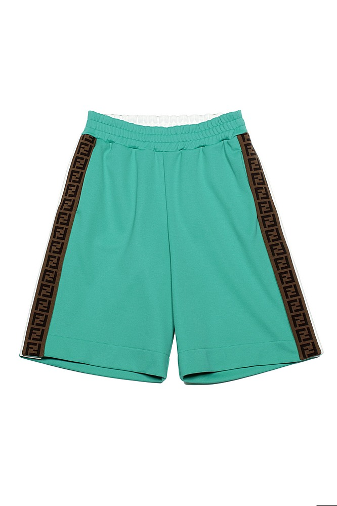 JUF018 A69D / F1CE7 GREEN / SHorts With Side Logo and Snaps