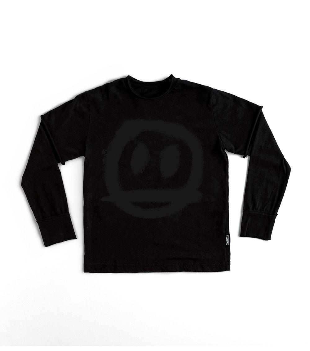 NU2701A / BLACK / Sprayed Smile T-Shirt