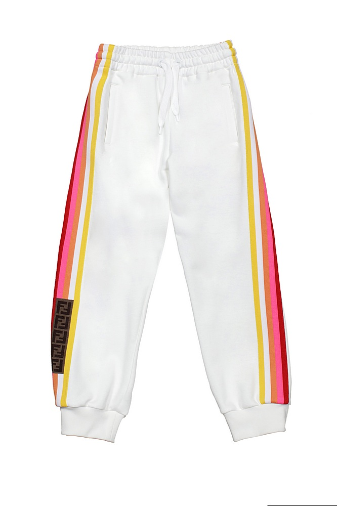 JUF030 5V0 / F1DEQ WHITE / Pant With Racer Strip and Logo Trim