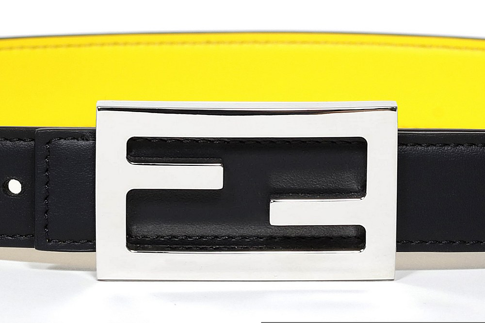 8CB002 A97T / F08NF BLK YLLW' / Belt With Logo Buckle