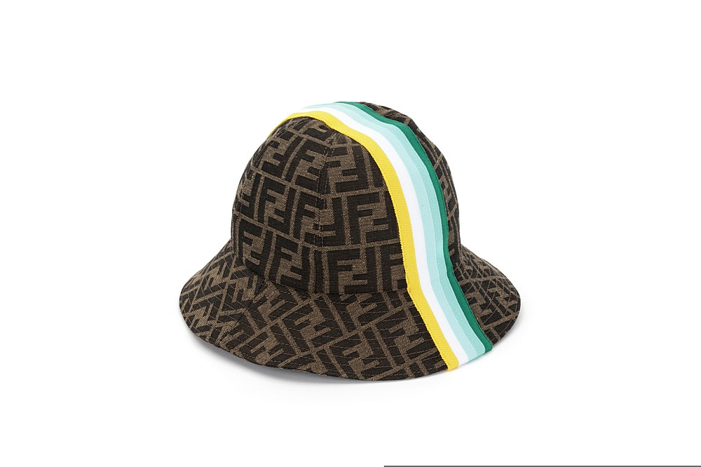 JUP009 AF11 / F1CWQ GREEN / Hat With Stripes Prt Annd Overall Logo