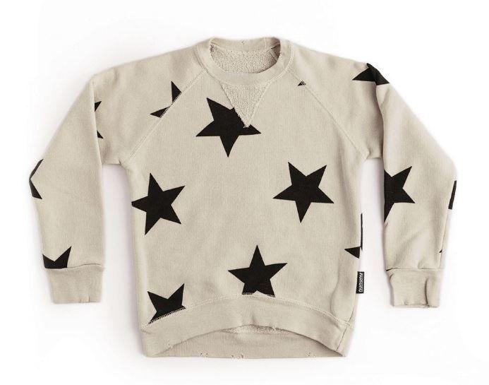 NU2714A / NATURAL / Star Sweatshirt