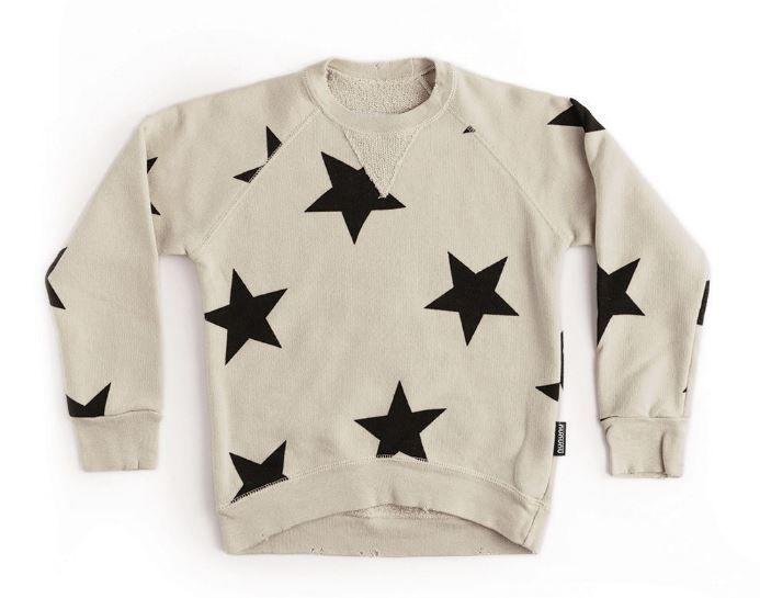 NU2714B / NATURAL / Star Sweatshirt