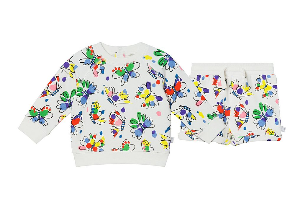 602846 SQJC8 / H910 MUKTI / Baby Girl Baby Butterflies Sweatshort Set