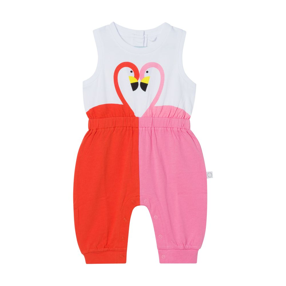 602583 SQJA7 / 9000 PINK / Baby Girl All in One With Flamingo