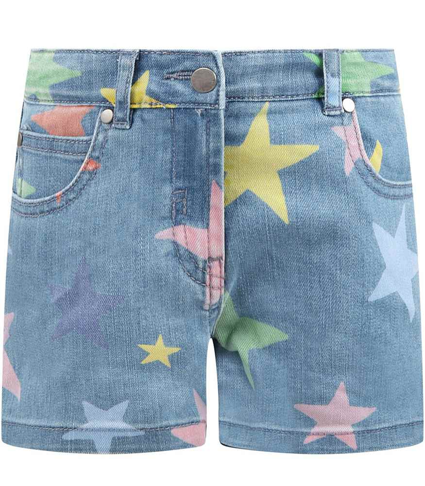 602725 SQKB7 / H407 MULTI / Kid Girl Star Shorts