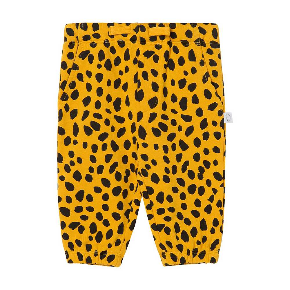 602286 SQJ27 / H701 ORANGE / Baby Boy Cheetah Dot Joggers