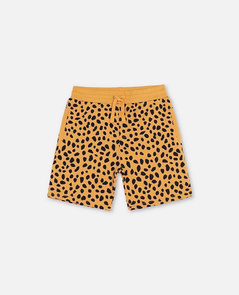 602259 SQJ27 / H701 ORANGE / Cheetah Dots Sweatshort
