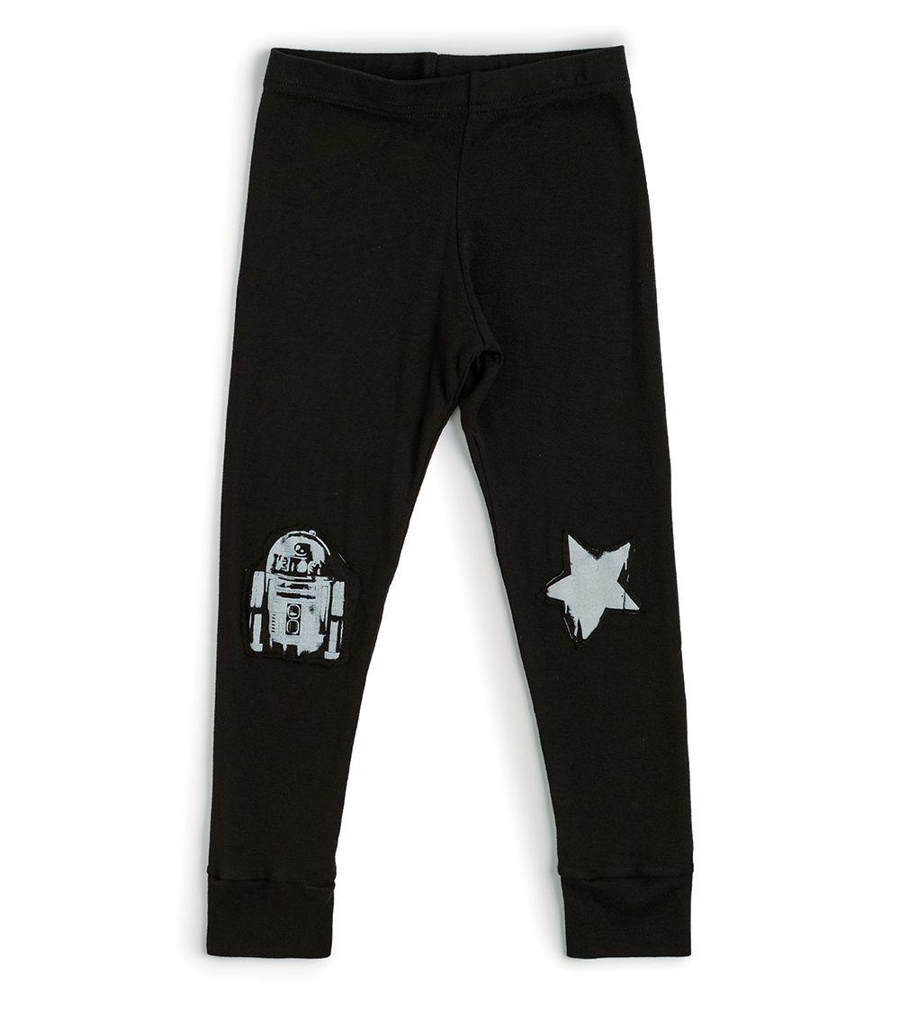 NSW012A / BLACK / Star Wars Knee Print Legging