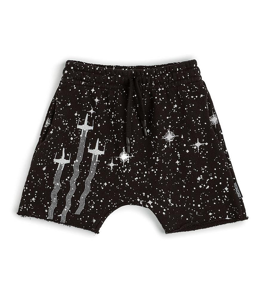 NSW016B / BLACK / Star Wars Galaxy Sweatshort