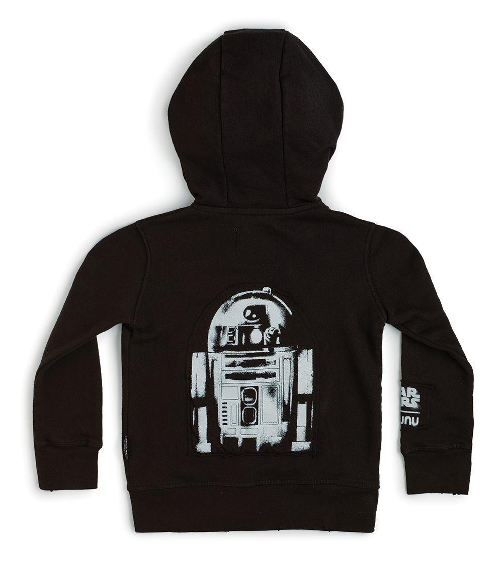NSW08B / BLACK / Star Wars R2d2 Zip Hoodie