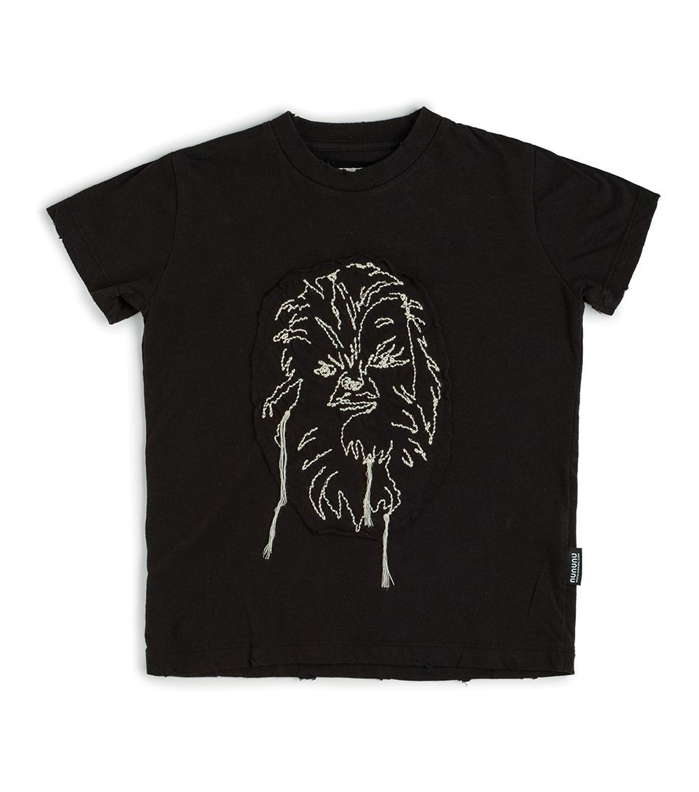 NSW01A. / BLACK / Star Wars Embroidered Chewbacca T-Shirt