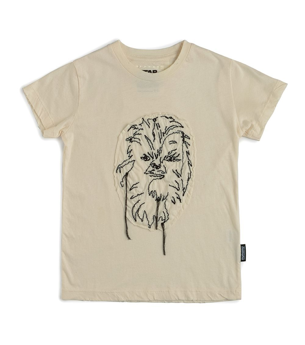NSW01A / NATURAL / Star Wars Embroidered Chewbacca T-Shirt