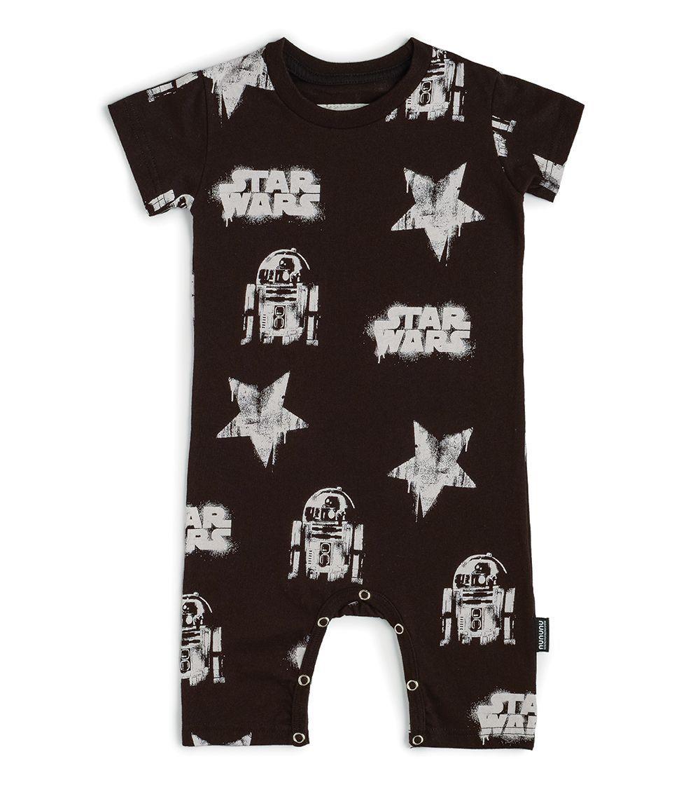 NSW028 / BLACK / Star Wars Allover Playsuit