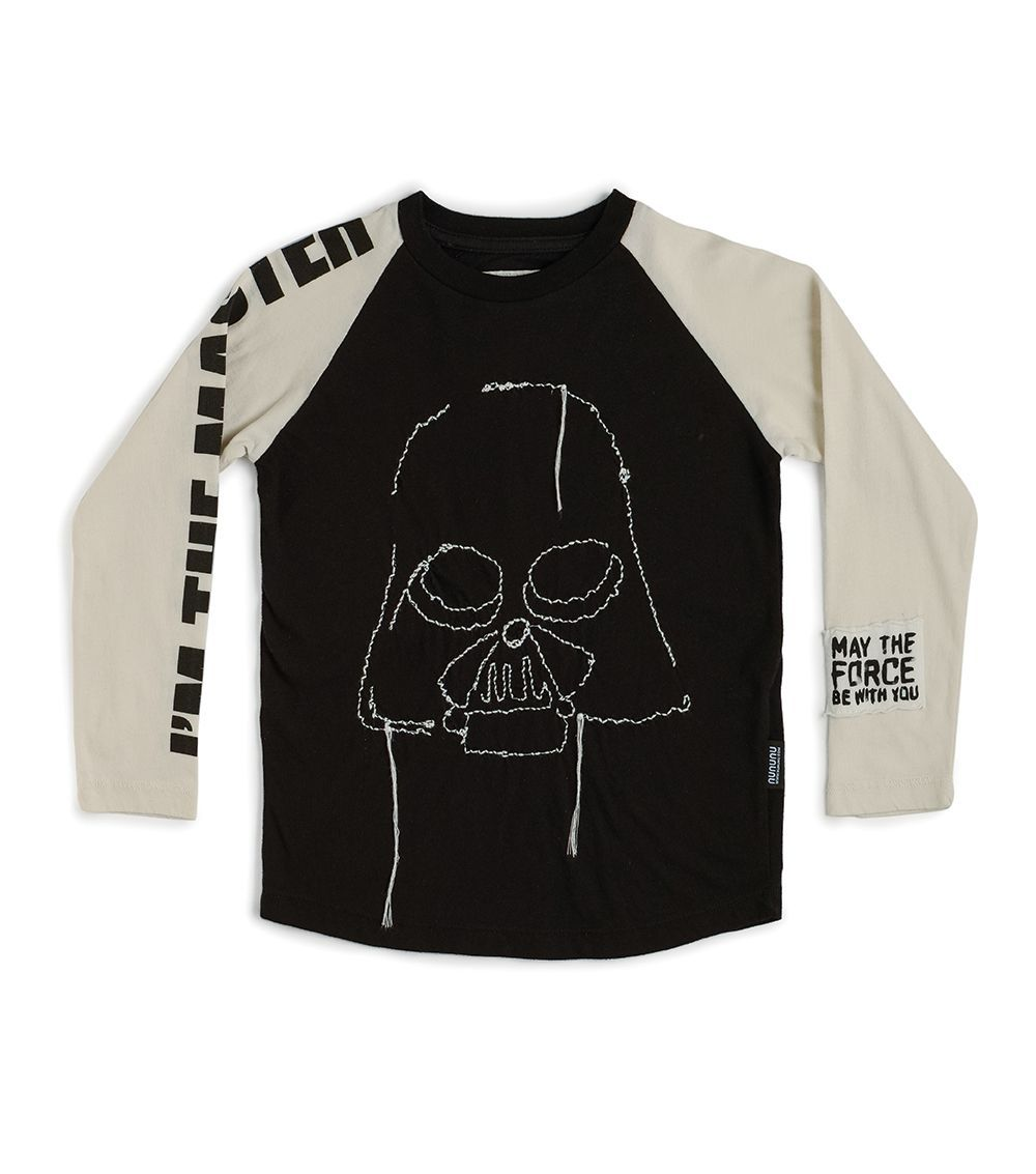 NSW04A / BLACK / Star Wars Embroidered Darth Vader Shirt