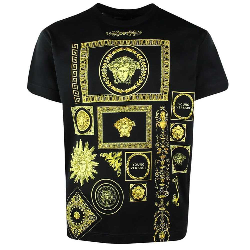 YVMTS239 / BLACK / YOUNG VERSACE TEE W/MEDUSA