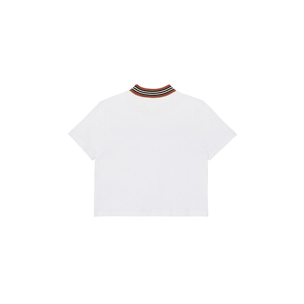 8036938 / WHITE / BURBERRY SHORTBREAD T-SHIRT