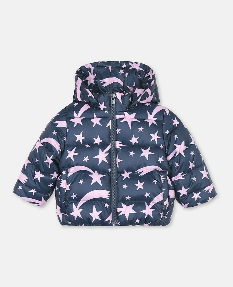 566325 / 4098 NAVY / STELLA MCCARTNEY PUFFER JACKET W/SHOOTING STARS