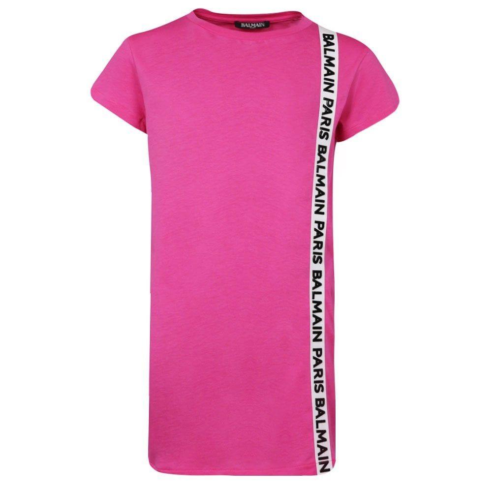 6K1051 / 512 PINK / BALMAIN T-SHIRT DRESS